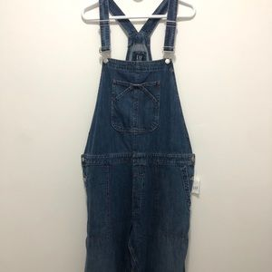 GAP Relaxed Fit Denim Overalls Size XL Tall